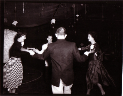 DANCING AT THE HOMECOMING EVENT - 1956