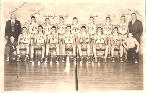 PUTNAM JR. HIGH BOYS BASKETBALL TEAM - 1953  ?,RALPH CLERE,LAMAR PATRICK,CHICK THOMAS, A.J.SEXTON,DON,HERBIE WHEELER,ROG