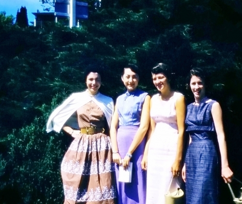 SENIOR TRIP TO NATURAL BRIDGE, WV:  Myra Kay Slavens, Ginny Lewis, Gloria Hager, Shirley Gallaher